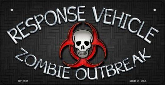 Response Vehicle Novelty Metal Bicycle Plate BP-8581