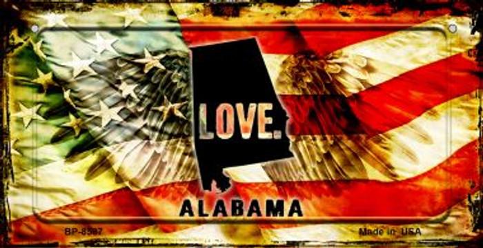 Alabama Love & Wings Novelty Metal Bicycle Plate BP-8587