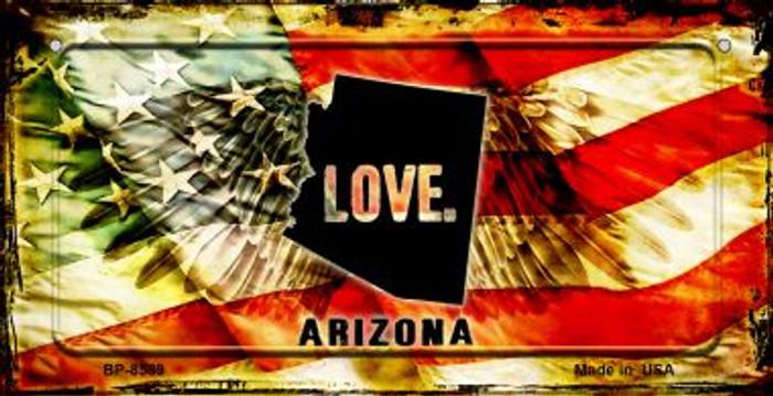 Arizona Love & Wings Novelty Metal Bicycle Plate BP-8589