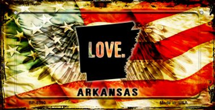 Arkansas Love & Wings Novelty Metal Bicycle Plate BP-8590