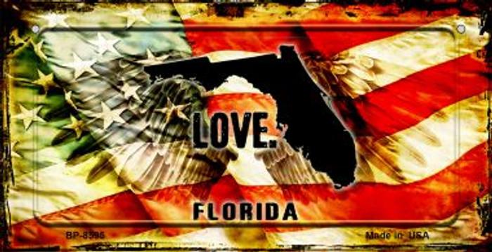 Florida Love & Wings Novelty Metal Bicycle Plate BP-8595