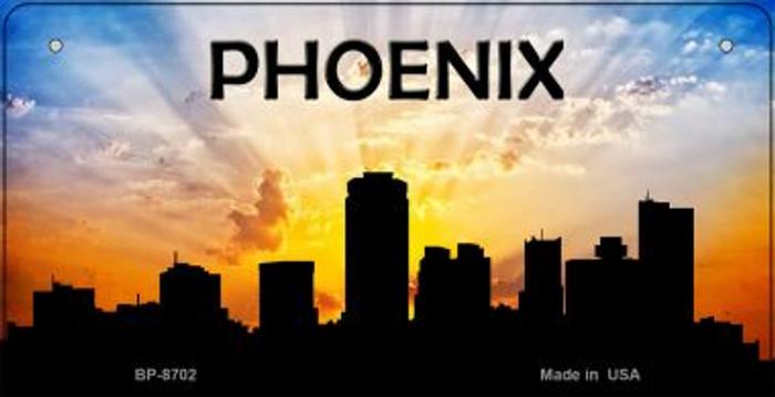 Phoenix Silhouette Novelty Metal Bicycle Plate BP-8702