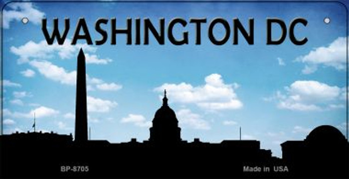 Washington DC Silhouette Novelty Metal Bicycle Plate BP-8705