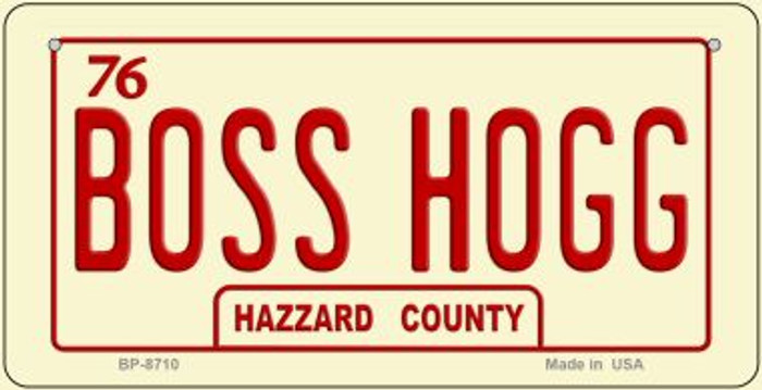 Boss Hogg Novelty Metal Bicycle Plate BP-8710