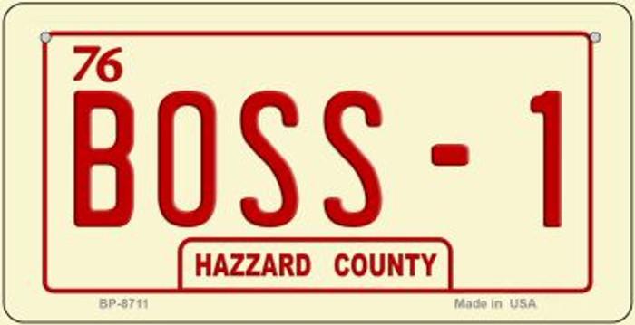 Boss -1 Novelty Metal Bicycle Plate BP-8711