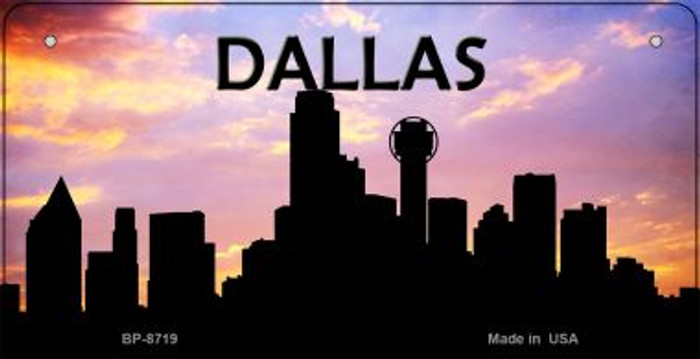 Dallas Silhouette Novelty Metal Bicycle Plate BP-8719