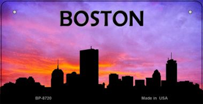 Boston Silhouette Novelty Metal Bicycle Plate BP-8720