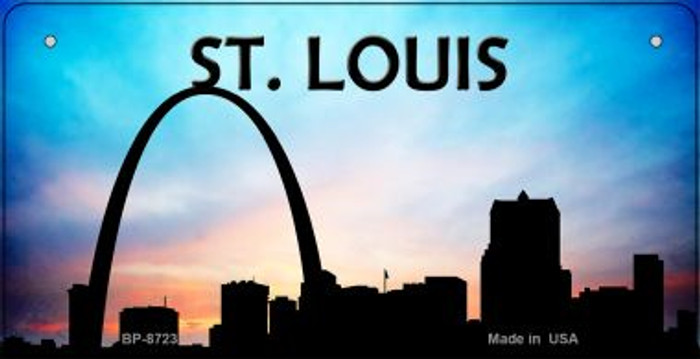 St Louis Silhouette Novelty Metal Bicycle Plate BP-8723