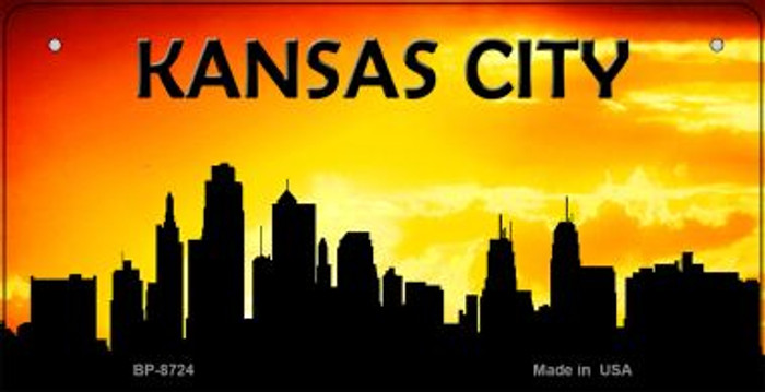 Kansas City Silhouette Novelty Metal Bicycle Plate BP-8724