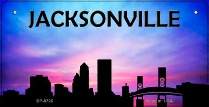 Jacksonville Silhouette Novelty Metal Bicycle Plate BP-8726