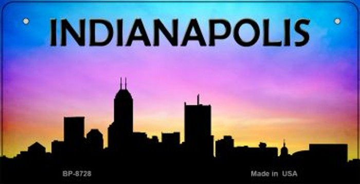 Indianapolis Silhouette Novelty Metal Bicycle Plate BP-8728