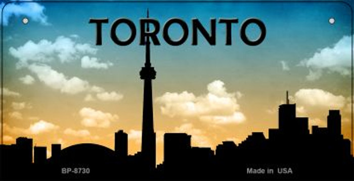 Toronto Silhouette Novelty Metal Bicycle Plate BP-8730