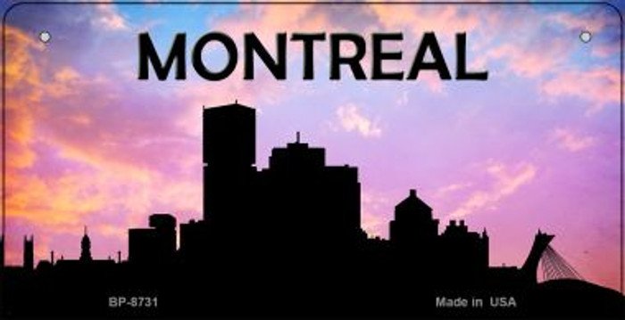 Montreal Silhouette Novelty Metal Bicycle Plate BP-8731