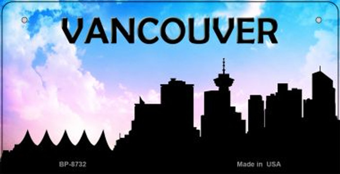 Vancouver Silhouette Novelty Metal Bicycle Plate BP-8732
