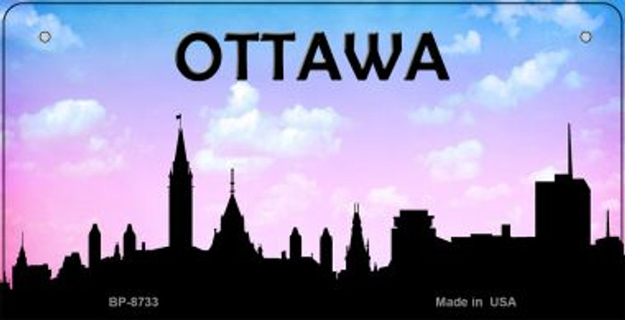 Ottawa Silhouette Novelty Metal Bicycle Plate BP-8733