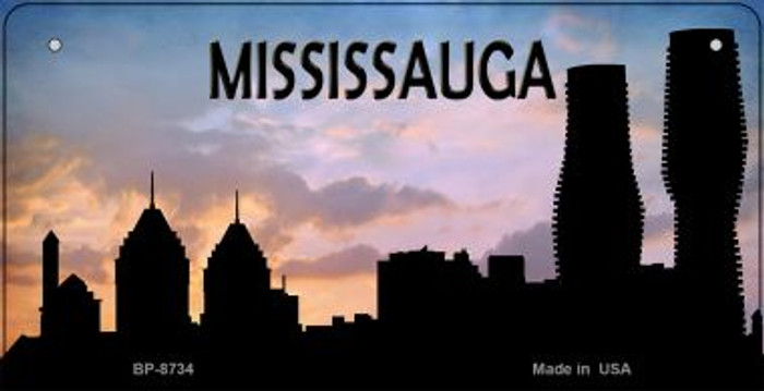Mississauga Silhouette Novelty Metal Bicycle Plate BP-8734