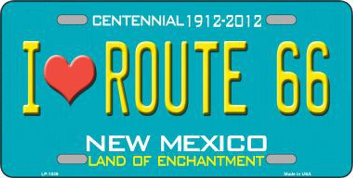 I Love Route 66 New Mexico Novelty Metal License Plate