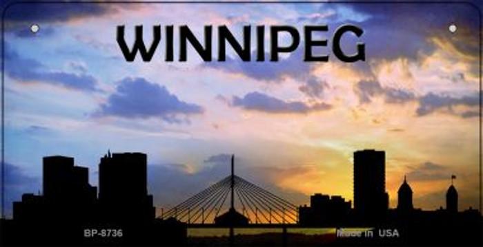 Winnipeg Silhouette Novelty Metal Bicycle Plate BP-8736