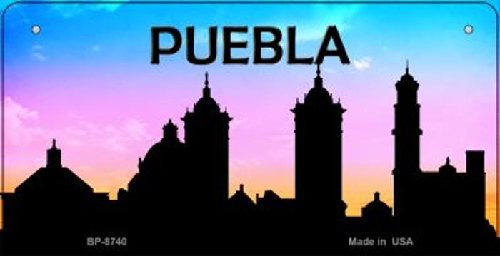 Puebla Silhouette Novelty Metal Bicycle Plate BP-8740