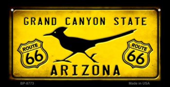Arizona Route 66 Roadrunner Novelty Metal Bicycle Plate BP-8773