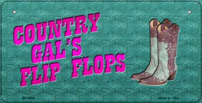 Country Gal's Flip Flops Novelty Metal Bicycle Plate BP-8820