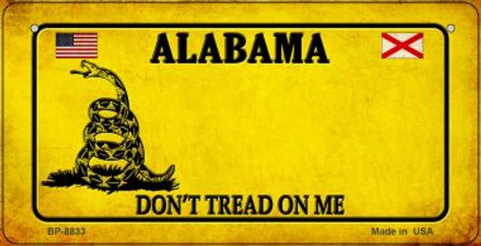 Alabama Do Not Tread Novelty Metal Bicycle Plate BP-8833