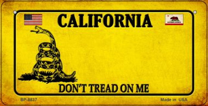 California Do Not Tread Novelty Metal Bicycle Plate BP-8837