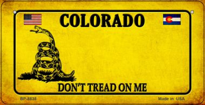 Colorado Do Not Tread Novelty Metal Bicycle Plate BP-8838