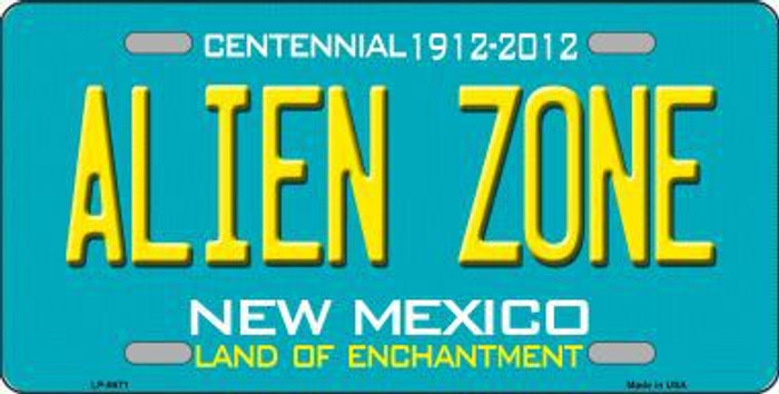 Alien Zone New Mexico State Novelty Metal License Plate LP-6671