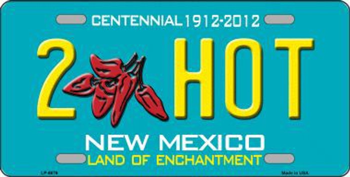 2 Hot New Mexico Novelty Metal License Plate LP-6676
