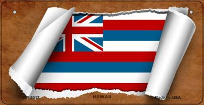 Hawaii Flag Scroll Novelty Metal Bicycle Plate BP-9017