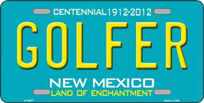 Golfer New Mexico Novelty Metal License Plate LP-6677