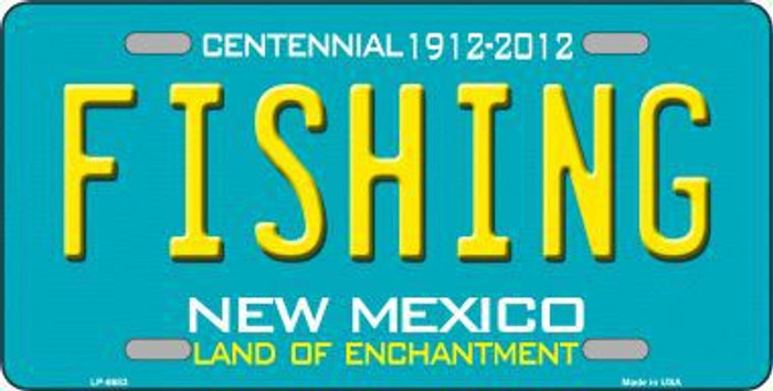 Fishing New Mexico Novelty Metal License Plate LP-6683