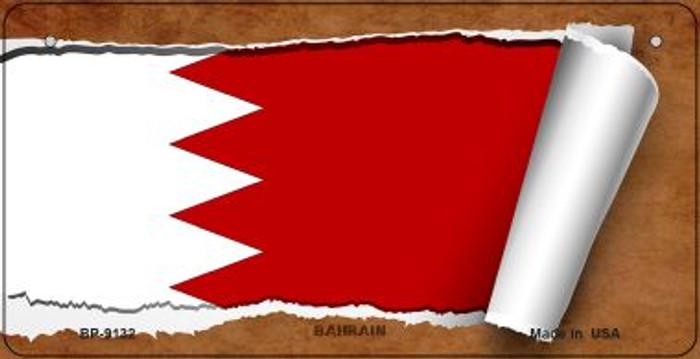 Bahrain Flag Scroll Novelty Metal Bicycle Plate BP-9132