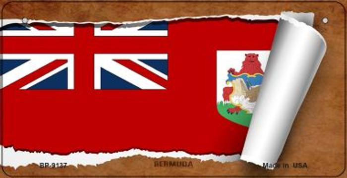 Bermuda Flag Scroll Novelty Metal Bicycle Plate BP-9137