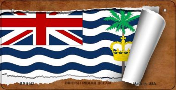 British Indian Ocean Flag Scroll Novelty Metal Bicycle Plate BP-9142