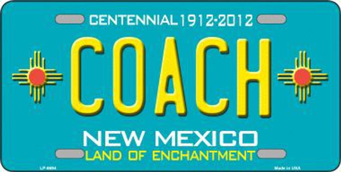 Coach New Mexico Novelty Metal License Plate LP-6694
