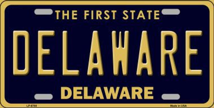 Delaware Novelty Metal License Plate LP-6700