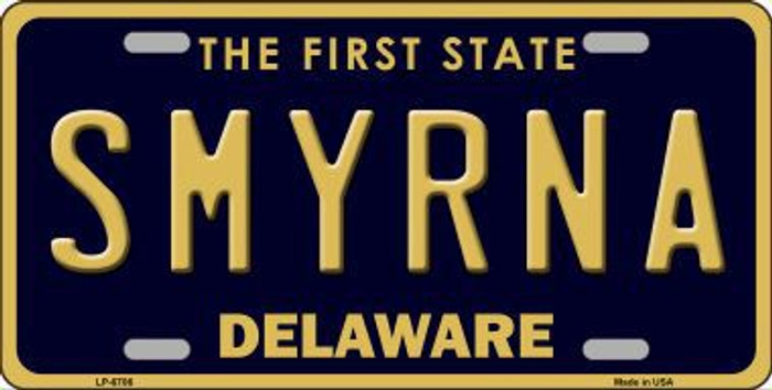 Smyrna Delaware Novelty Metal License Plate LP-6706