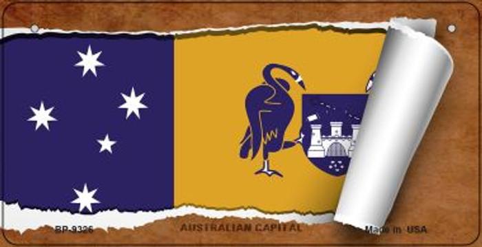 Australian Capital Flag Scroll Novelty Metal Bicycle Plate BP-9326