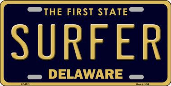 Surfer Delaware Novelty Metal License Plate LP-6713