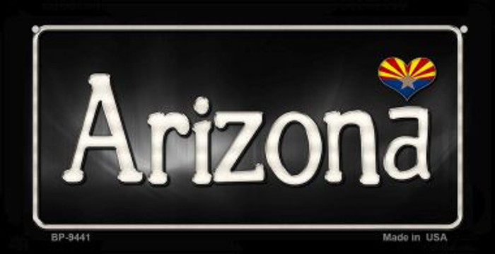 Arizona Flag Script Novelty Metal Bicycle Plate BP-9441