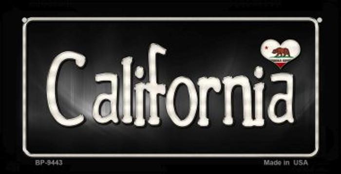 California Flag Script Novelty Metal Bicycle Plate BP-9443