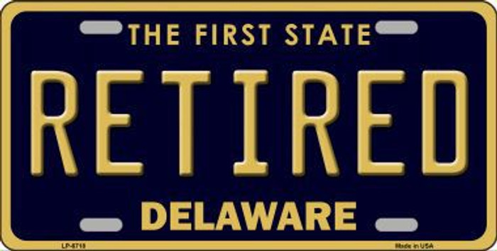 Retired Delaware Novelty Metal License Plate LP-6718