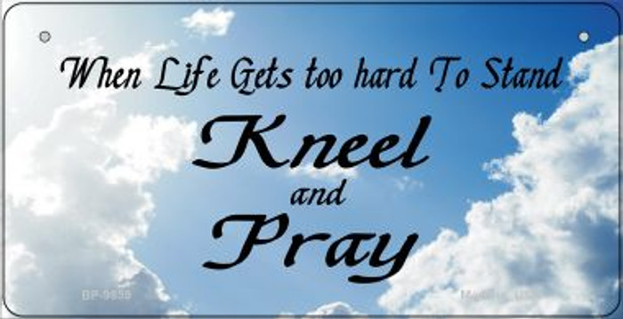 Kneel And Pray Clouds Novelty Metal Bicycle Plate BP-9859