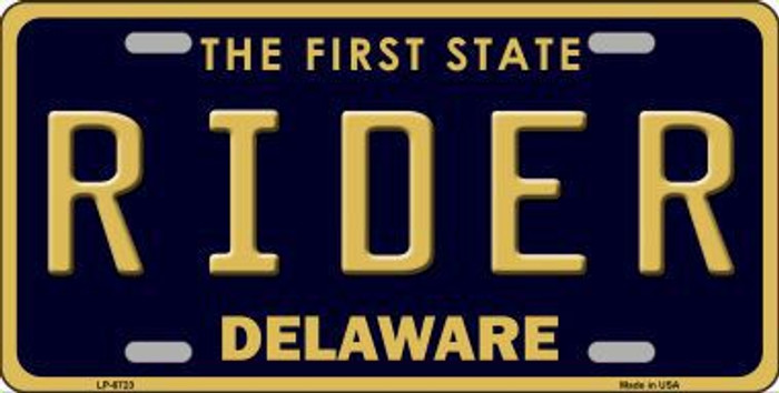 Rider Delaware Novelty Metal License Plate LP-6723