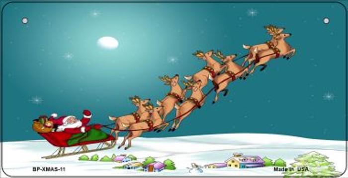 Santa And Reindeer Novelty Metal Bicycle Plate BP-XMAS-11
