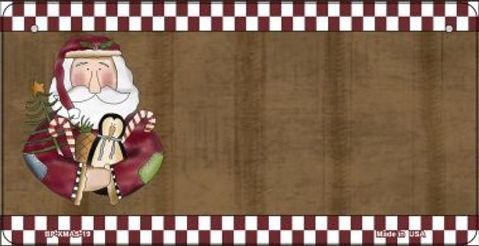 Santa With Rag Doll Novelty Metal Bicycle Plate BP-XMAS-19
