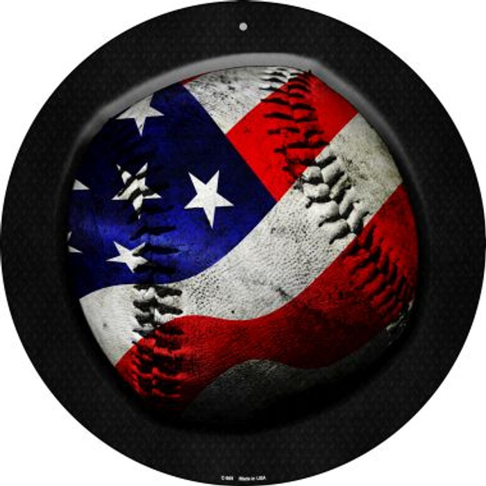 American Baseball Novelty Metal Circular Sign C-969