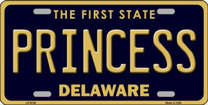 Princess Delaware Novelty Metal License Plate LP-6728